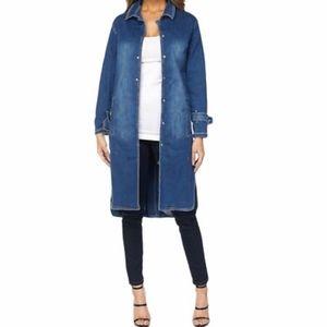 Judy blue full length denim snap trenchcoat